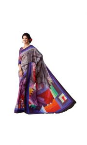 Vipul Multicoloured Art Silk Saree With Blouse Piece (code - 15840)