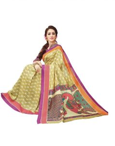 422ac26ad2e6b Buy Varni Peach Checkered Woven Art Silk Saree with Blouse Online ...