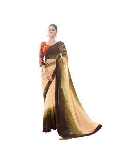 Vipul Multicoloured Georgette Saree With Blouse Piece (code - 17123)