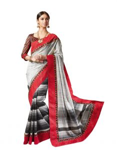 Vipul Multicoloured Art Silk Saree With Blouse Piece (code - 17471)