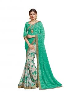 Georgette Sarees - Vipul Multicoloured Georgette Saree with blouse piece (Code - 18220)