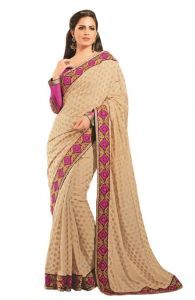 Vipul Sarees (Misc) - Vipil Heavy Embroidered Full Sleeve blouse & Saree on Jacquard butta fabric(Product Code)_2314