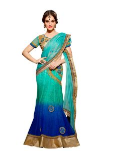 Vipul Multicoloured Lycra Saree With Blouse Piece (code - 3110)