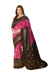 Vipul Branded Designer Bhagalpuri Silk Catalog Saree With Exclusive Foil Work(product Code)_11908