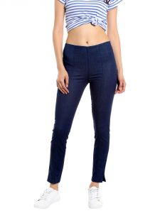 Tarama Mid Rise Super Skinny Fit Dark Blue Color Jegging For Women-a2 Tdb1202b