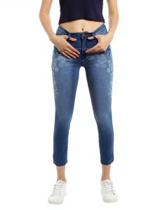 Tarama Mid Rise Skinny Fit Blue Color Jeans For Women-a2 Tdb1205