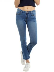 Tarama Low Rise Straight Cropped Fit Blue Color Ankle Length Jeans For Women