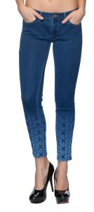 Tarama Dark Blue Color Jeans For Women