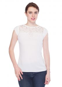 Tarama White Color Top For Women