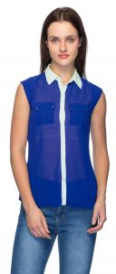 Tarama Blue Color Shirt For Women