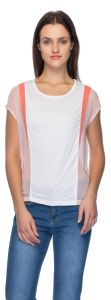 Tarama White & Pink Color Top For Women