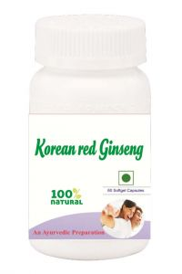 Hawaiian Herbal Korean Ginseng Softgel Capsule 60 Softgel