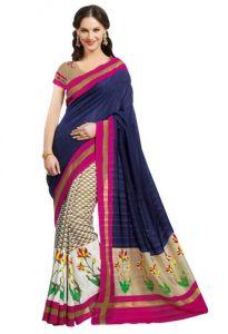 Stylelok Women's Clothing - Stylelok Blue Silk Designer Saree Sl 275014380