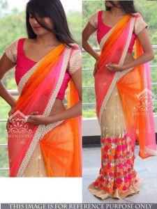 Bikaw Bollywood Sarees - Thankar Multi Colour Multi Work Net Bollywood Replica Designer Saree Tbs107-nx-40