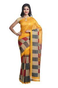 Polyester Sarees - Sudarshan Silks Multicolor Bhagalpuri Saree Sp_sps8