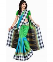 Styloce Women's Clothing - Styloce Green Bhagalpuri Saree Sty-8654_1