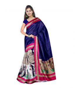 Kalazone Cotton Sarees - Kalazone Purple Cotton Casual Wear Saree - (product Code - Es1038)
