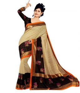 Kalazone Cotton Sarees - Kalazone Multi Color Cotton Casual Wear Saree - (product Code - Es1410)