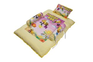 Bedding sets - Little Innocent Printed Cotton Baby Bed With Pillow