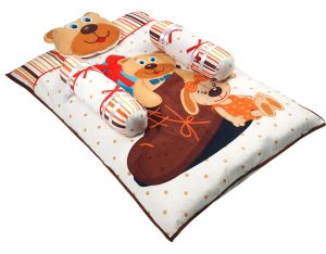 Bedding sets - Little Innocent Cartoon Printed Baby Bed With Pillow