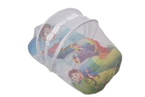 Baby mosquito nets - Little Innocent Cartoon Printed Baby Mattress With Mosquito Net