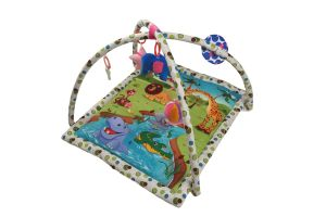 Baby Care - Little Innocent Square Multi color Animal Print Play Gym