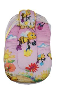 Baby bedding - Little Innocent Cartoon Printed Baby Mattress With Mosquito Net