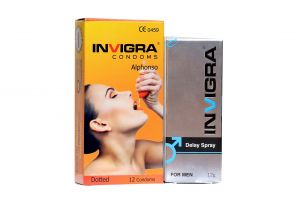 Invigra Alphanso Condom And Delay Spray For Men Long Lasting- 12g