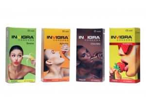 Invigra Condoms - Flavours Pack