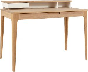 Afydecor Contemporary Writing Desk In Smooth Rounded Lines And Flush Drawers(product Code)_3111