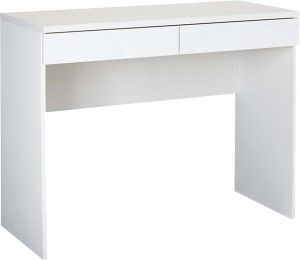 Home Utility Furniture - Afydecor Contemporary Minimalist Writing Desk with Flush-fit Drawers(Product Code)_3112