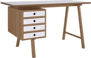 Home Decor & Furnishing - Afydecor Modern 4 Door Writing Desk with Round Legs(Product Code)_3113