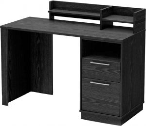 Afydecor Contemporary Rectangular Study Table With Two Drawers And Shelves For Storage(product Code)_3129