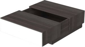 Afydecor Contemporary Styled Coffee Table With Central Storage(product Code)_3421
