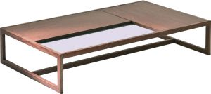 Afydecor Contemporary Coffee Table With A Sleek Sleigh Style Base (product Code)_3447