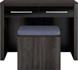 Home Utility Furniture - Afydecor Contemporary Vanity Table with Sleek Metal Pulls and a Spacious Top (Product Code)_3475