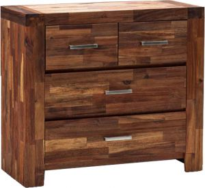 Afydecor Contemporary 4 Drawer Compact Vanity Table With Rectangular Mirror(product Code)_3481