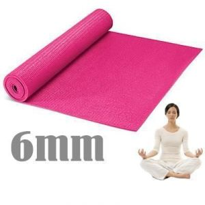 Anti Skid Yoga Mat 6mm Thick Washable Fitness Exercise Non-slip Surface