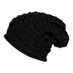 Woolen Skull Beanie Cap Slouchy Black For Men & Women