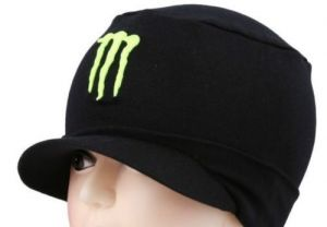 Black Monster Skull Head Cap Hat Cotton For Sports & Winter