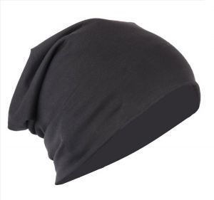 Stylish Cotton Beanie Cap Black For Men Women