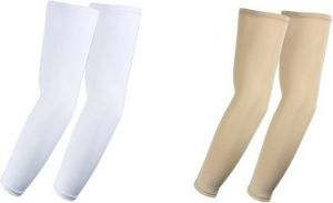 Cotton Arm Sleeve For Boys & Girls (free, White, Beige)