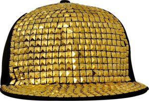 Solid Snapback Gold Hiphop Baseball Cap