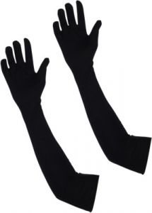 Bike Body Covers - Black Arm Sleeves Elbow Sleeves Cooling Sun Protection Cover 1 Pair