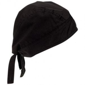 Bikers Cotton Bandanna/head Wrap/scarf/sikh Parka/commando Cap Unisex(black)