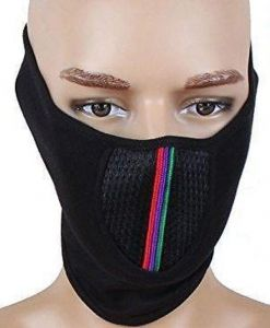 Pollution Mask Half Face Cap For Bike Riding/walk/cycle/traffic Men Woman Black