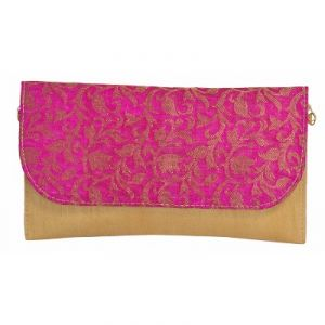 Azzra Pink Ethnic Pink Sling Clutch (code - Awsl0115-pink)