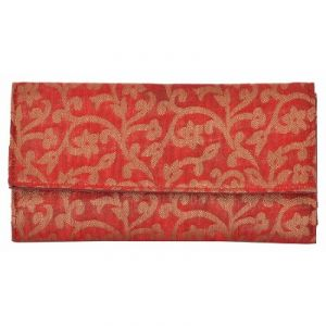 Azzra Red Wallet Clutch For Women (code - Awwc0105-red)