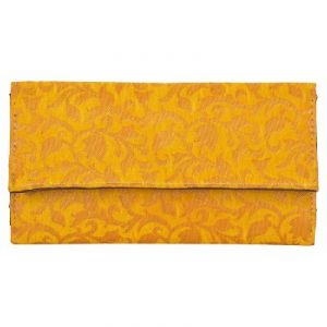 Azzra Yellow Wallet Clutch For Women (code - Awwc0107-yelw)