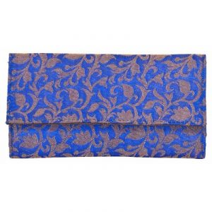 Azzra Blue Wallet Clutch For Women (code - Awwc0108-blue)